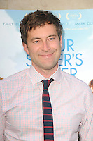 Mark Duplass at the Los Angeles premiere of 'Your Sister's Sister' at ArcLight Cinemas on June 11, 2012 in Hollywood, California. &copy;&nbsp;mpi35/MediaPunch Inc. NORTEPHOTO.COM<br />