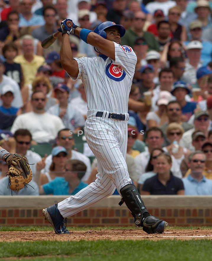 Corey Patterson during the Chicago Cubs v. Boston Red Sox game on June 10, 1005..Cubs win 14-6..David Durochik / SportPics
