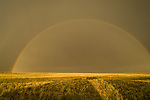 Rainbow with secondary bow, clearing thunderstorm on the Great Plains east of Colorado Springs, Colorado