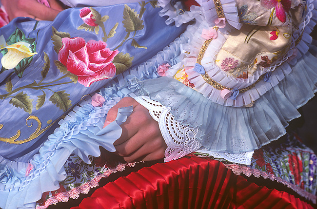 Costume Detail, Cavalcata Celebration, Springtime, Sassari, Sardinia, Italy