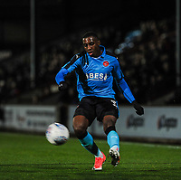 Fleetwood Town's defender Amari'i Bell (3) during the Sky Bet League 1 match between Scunthorpe United and Fleetwood Town at Glanford Park, Scunthorpe, England on 17 October 2017. Photo by Stephen Buckley/PRiME Media Images