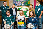 Pictured at the launch of the Christopher Hennessy International Tournament in the Frank Sheehy Park Listowel Christy Walsh's in the square Listowel on Monday night. Front row: John Hennessy, Michelle Hennessy, Norah Brown. Back row: Mark Griffin, John Hennessy, Helen Hennessy, Christy Walsh.