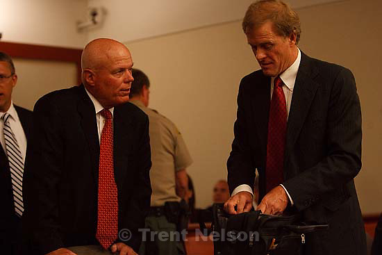 Salt Lake City - A hearing held at the Matheson Courthouse Wednesday, July 29, 2009 to decide on the sale of the Berry Knoll property in the United Effort Plan (UEP) land trust..bruce wisan, jeff shields