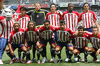 Chivas USA Starting Eleven. The LA Galaxy played the Chivas USA to a 1-1 draw at the Home Depot Center in Carson, California, May 20, 2007.