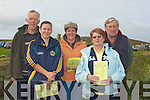 MARKING: marking their programmes at the Ballyheigue coursing ion Saturday Front l-r: Teresa Foran and Kitty Brennan. Back l-r: Michael Casey, Mary Egan and Tom Joe Hayes...