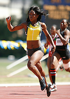 Tianna Madison ran 11.54sec. in the 100m on Friday, April 11, 2008 at the Rafer Johnson/Jackie Joyner-Kersee Inv. held at Drake Stadium-UCLA. Photo by Errol Anderson, The Sporting Image
