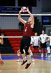 KENOSHA, WI - APRIL 28:  Stevens Institute's setter Jacob Patterson puts the ball up at the Division III Men's Volleyball Championship held at the Tarble Athletic and Recreation Center on April 28, 2018 in Kenosha, Wisconsin. (Photo by Steve Woltmann/NCAA Photos via Getty Images)
