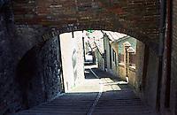 Urbino:  A street in Urbino--hilly and narrow.  Photo '83.