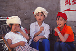 China, Bai girls in Dali, Yunnan Province