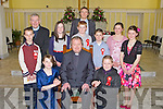 Pupils from Killury NS on Wednesday who were confirmed by Fr Tadhg Fitzgerald and assisted by Fr Brendan Walsh in St Johns Church, Causeway. Front l-r: Rachel Griffin, Fr Tadgh Fitzgerald, and Gerard Leen. Standing l-r: Christopher ODonoghue, Fr Brendan Walsh, Michaela OSullivan, Evan Murphy, Gavin Dooley, Shona Bunyan and Aoife OConnor with Padraig Regan (principal) at back...