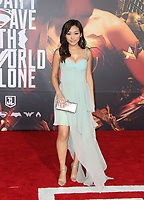 LOS ANGELES, CA - NOVEMBER 13: Karen Fukuhara, at the Justice League film Premiere on November 13, 2017 at the Dolby Theatre in Los Angeles, California. <br /> CAP/MPI/FS<br /> &copy;FS/MPI/Capital Pictures
