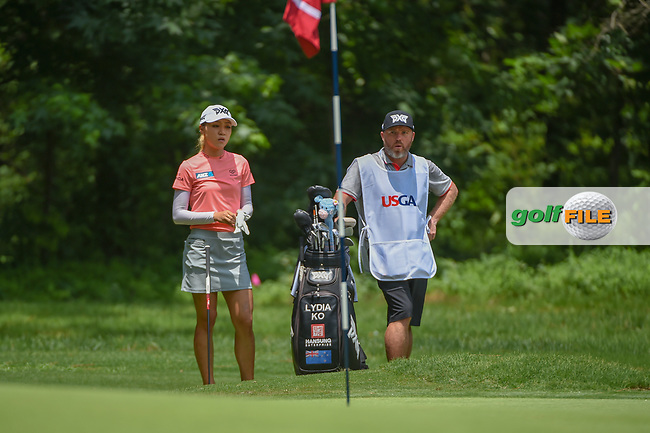 Lydia Ko (NZL) looks over her sand shot on 1 during round 1 of the U.S. Women's Open Championship, Shoal Creek Country Club, at Birmingham, Alabama, USA. 5/31/2018.<br /> Picture: Golffile   Ken Murray<br /> <br /> All photo usage must carry mandatory copyright credit (© Golffile   Ken Murray)