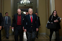 United States Senator Chuck Grassley (Republican of Iowa), left, and United States Senate Majority Leader Mitch McConnell (Republican of Kentucky), right, walk to the Senate Floor on Capitol Hill in Washington D.C., U.S., on Monday, January 6, 2019.<br /> <br /> Credit: Stefani Reynolds / CNP/AdMedia