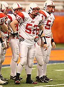 Southwestern Trojans varsity football against the Bronxville Broncos during the NYSPHSAA Class-C State Championship game at the Carrier Dome on November 28, 2009 in Syracuse, New York.  Southwestern defeated Bronxville 40-14.  (Copyright Mike Janes Photography)
