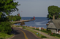 South Haven channel to Lake Michigan on a June morning.