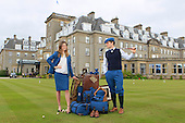 Harris Tweed Hebrides has launched the official Ryder Cup Harris Tweed collection at Gleneagles Hotel. Models Lucie Garvie and Brian Kearney were wearing the new collection which will also be cut into the uniform for the Junior Ryder Cup team.  the 2014 Ryder Cup at Gleneagles, Scotland: Picture Stuart Adams www.golftourimages.com: 8th May2014
