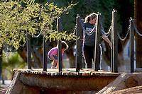 Un puente de madera..Alguna ves tuviste la ilusi?n  de ni-o so-ar  que cruzabas alg?n  puente de madera. ahora puedes hacerlo al lado de tus hijos sin importar que no sea a ala escala so-ada. La gr?fica corresponde al  Parque Madero.