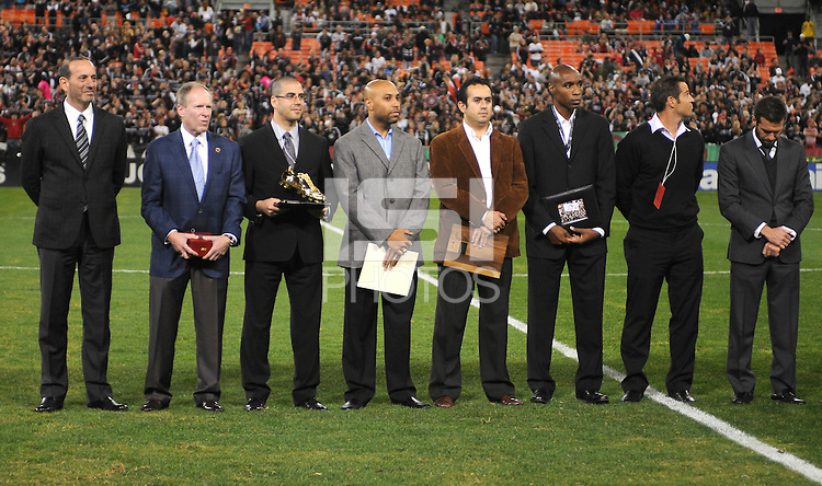 MLS and DC United Committee at the presentation for Jaime Moreno last game.  Toronto FC. defeated DC United 3-2 at RFK Stadium, October 23, 2010.