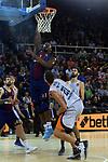 Turkish Airlines Euroleague 2017/2018.<br /> Regular Season - Round 8.<br /> FC Barcelona Lassa vs Valencia Basket: 89-71.<br /> Kevin Seraphin vs Timor Pleiss.