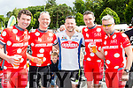 Shay Nolan, Ted Healy, Denis O'Leary, Neil Kiely and Paul O'Neill Killarney celebrate at the finish of the Ring of Kerry cycle in Killarney on Saturday