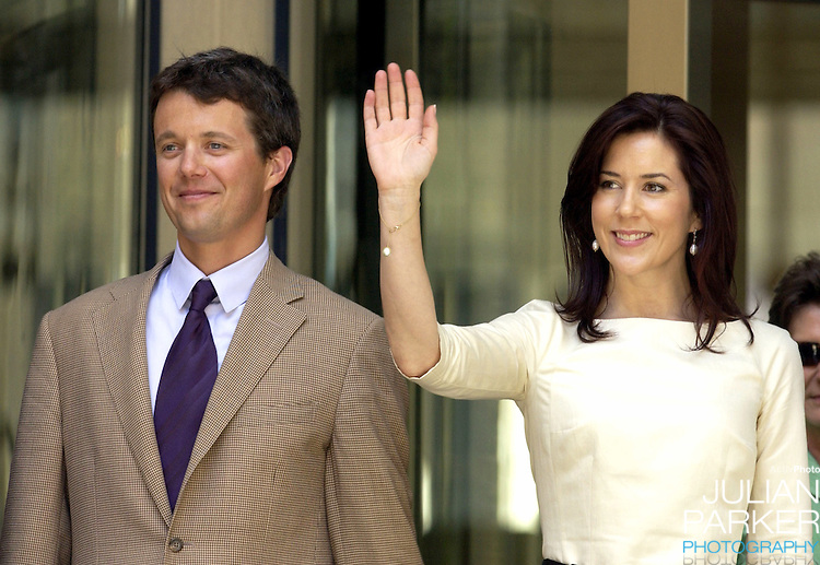 Crown Prince Frederik & Crown Princess Mary of Denmark attend a luncheon at the Governor MacQuarie Tower, hosted by the Premier of NSW, during their 2-week visit to Australia..