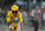 TOUR DE FRANCE<br /> © Pierre Teyssot <br /> Alberto Contador (Astana) before Tour de France's time trial on 23/07/2009, in Annecy, France.