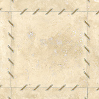 Ingrid, a stone water jet mosaic, shown in Lagos Gold and Durango, is part of the Ann Sacks Beau Monde collection sold exclusively at www.annsacks.com