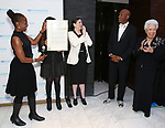 Chirlane McCray, Kenny Leon and Joy Abbott attend the SDC Foundation presents The Mr. Abbott Award honoring Kenny Leon at ESPACE on March 27, 2017 in New York City.