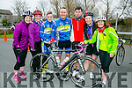 at the St. Brendan's N.S. FENIT Coastal Cycle fundraiser for St Brendan's N.S were l-r  Fiona O'Connor, Catherine Wharton, Ciaran Commane, Tommy Commane, Ian Moynihan, Ann Moynihan and Mags Spillane.