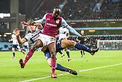 12th September 2017, Villa Park, Birmingham, England; EFL Championship football, Aston Villa versus Middlesbrough; Albert Adomah of Aston Villa and Dael Fry of Middlesbrough collide