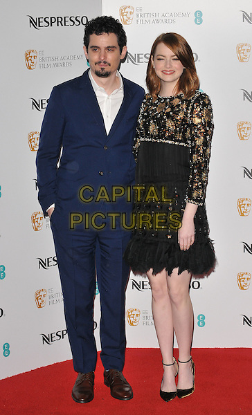 Damien Chazelle and Emma Stone at the Nespresso pre-BAFTAs Nominees' Party, Kensington Palace, Kensington Gardens, London, England, UK, on Saturday 11 February 2017.<br /> CAP/CAN<br /> &copy;CAN/Capital Pictures