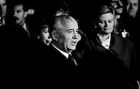 After opening the iron curtain: Former USSR President Michail Gorbatchev on State Visit in Germany, Ludwigshafen, Germany 1990