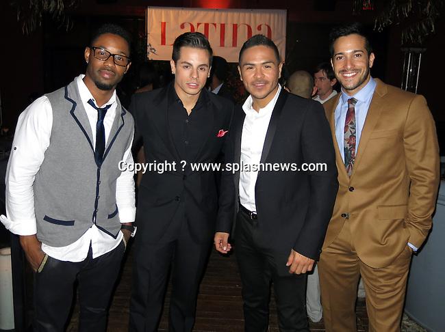 EXCLUSIVE: Latina Magazine's &quot;Hollywood Hot List&quot; Party.<br />The Redbury Hotel - Hollywood, CA<br /><br />Pictured: John Silver, Beau Casper Smart, Gilbert Saldivar, Shannon Holtz<br />Ref: SPL624735  031013   EXCLUSIVE<br />Picture by: CelebrityVibe / Splash News<br /><br />Splash News and Pictures<br />Los Angeles:310-821-2666<br />New York:212-619-2666<br />London:870-934-2666<br />photodesk@splashnews.com