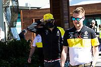 12th March 2020; Melbourne Grand Prix Circuit, Melbourne, Victoria, Australia; Formula One, Australian Grand Prix, Practice Day; Renault driver Esteban Ocon wears a mask to protect himself from the COVID-19 virus