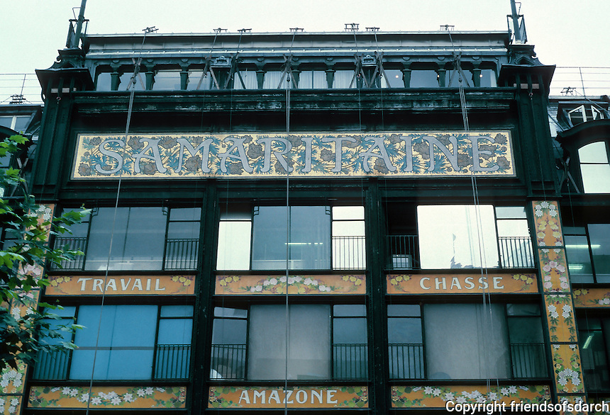 Henri Sauvage and Frantz Jourdain: La Samaritaine Dept. Store, Paris 1905. Photo '90.