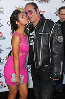 LOS ANGELES, CA, USA - APRIL 23: Valerie Vasquez, Andrew Dice Clay at the 2014 Revolver Golden Gods Award Show held at Club Nokia on April 23, 2014 in Los Angeles, California, United States. (Photo by Xavier Collin/Celebrity Monitor)