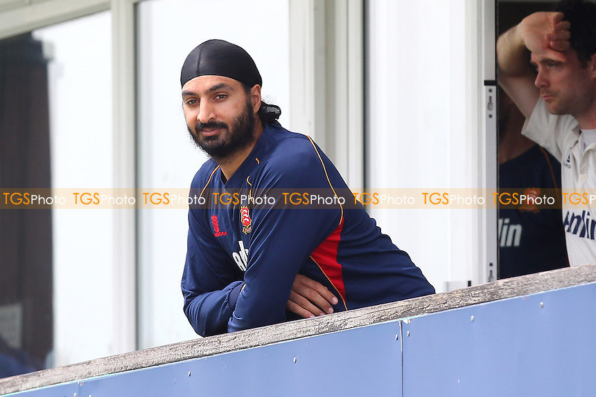 Monty Panesar of Essex is seen on the dressing room balcony after being dropped from the team - Essex CCC vs Glamorgan CCC - LV County Championship Division Two Cricket at the Essex County Ground, Chelmsford - 02/06/14 - MANDATORY CREDIT: Gavin Ellis/TGSPHOTO - Self billing applies where appropriate - 0845 094 6026 - contact@tgsphoto.co.uk - NO UNPAID USE