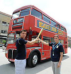OLIMPIZAM, NOVI SAD, 24. May. 2012. - Mihail Dudas i Ivana Spanovic. Zavrsne, sedamnaeste EkOlimpijske igre odrzane su danas na Trgu slobode u Novom Sadu. Foto: Nenad Negovanovic