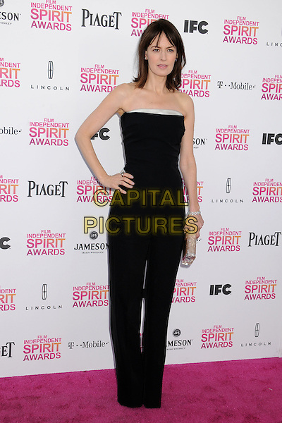 Rosemarie DeWitt.2013 Film Independent Spirit Awards - Arrivals held at Santa Monica Beach.  .Santa Monica, California, USA, .23rd February 2013..indy indie indies indys full length strapless black catsuit hand on hip silver clutch bag .CAP/ADM/BP.©Byron Purvis/AdMedia/Capital Pictures.