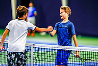 Hilversum, Netherlands, December 3, 2017, Winter Youth Circuit Masters, 12,14,and 16 years, Tijs Groesbeek (R)  shake hands with Boudewijn Willems (NED)<br /> Photo: Tennisimages/Henk Koster