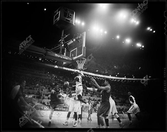 USA vs. China, basketball preliminary rounds, .Olympic Basketball Stadium.Beijing, China, August 10, 2008.