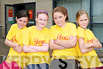 SUMMER GLEE: Enjoying great fun at the Glee Summer Camp 2 at Manor West hotel, Tralee on Monday l-r: Chantele O'Sullivan, Sophie Brosnan, Rachel Farrell and Ciara Darcy.
