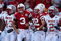 04 Sep 2010: Nebraska Cornhuskers quarterback Taylor Martinez (3) congradulated running back Rex Burkhead (22) on the towndown while being surrounded by Western Kentucky Hilltoppers at Memorial Staduim in Lincoln, Nebraska. Nebraska defeated Western Kentucky 49 to 10.