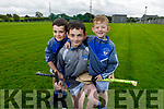 Brothers Caden, Sean and Dean Power get ready for hurling as the St Brendans Hurling Club prepare for the re opening of the field in Ardfert.