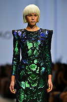 7 September 2017, Melbourne - Model parades design by RMIT student Xiangqiao Sheng during the Melbourne Fashion Week in Melbourne, Australia. (Photo Sydney Low / asteriskimages.com)
