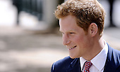 HRH Prince Harry arrives on Capitol Hill to tour an anti-landmine photography exhibition by The HALO Trust charity during the first day of his visit to the United States at the Russell Senate Office Building on May 9, 2013 in Washington, DC. .Credit: Olivier Douliery / CNP