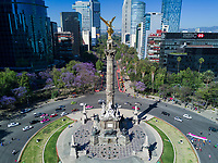 Angel de la Independencia, Avenida Reforma, aerial drone photography, Mexico City, Mexico