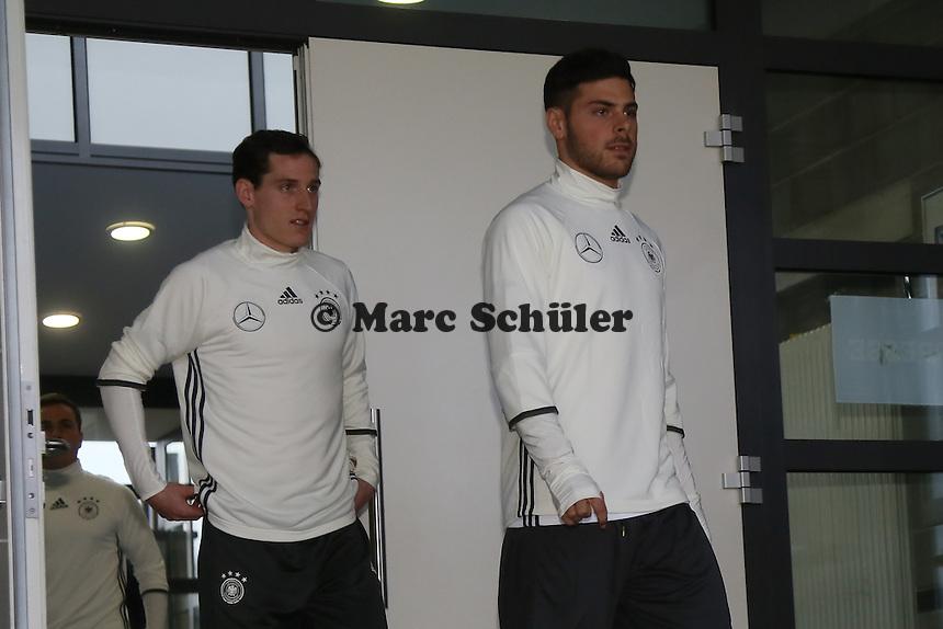 Sebastian Rudy und Kevin Volland - Training der Deutschen Nationalmannschaft, Wurfplatz Berlin
