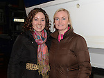Fiona and Vicky Fox pictured at the Mulled Wine fundraiser in Clogherhead Lifeboat Station. Photo:Colin Bell/pressphotos.ie