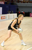 JOHANNESBURG, SOUTH AFRICA - JANUARY 28: Samantha Sinclair of the Silver Ferns in action during the Netball Quad Series netball match between Diamonds and Silver Ferns at the Ellis Park Arena in Johannesburg. Mandatory Photo Credit: ©Reg Caldecott/Michael Bradley Photography